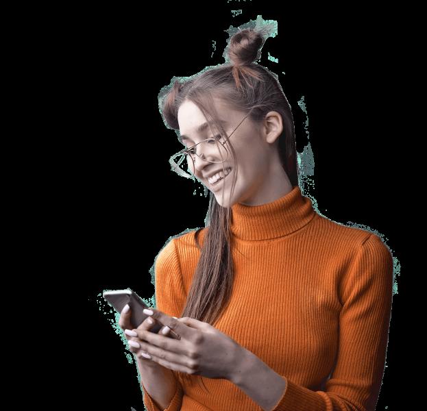 woman-in-orange-turtleneck-sweater-holding-black-smartphone-3767404
